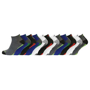 Mens 12 Pack Multipurpose Compression Fit Sports Active Trainer Socks Uk 6-11