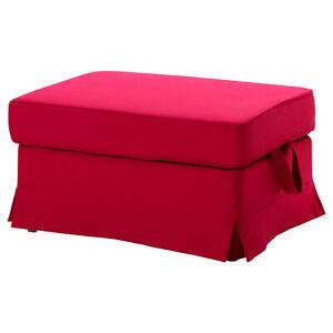 Ikea Ektorp Ottoman Footstool Cover Slipcover Idemo Red New 501.667.76