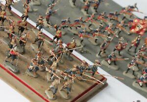 Soldaten großes Konvolut Heer im Angriff Kampf ca. 80 Figuren bemalt