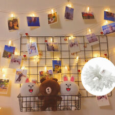 50 LED 5.5m Photo Clip Peg Display Fairy String Lights Wall Hanging Xmas Decor