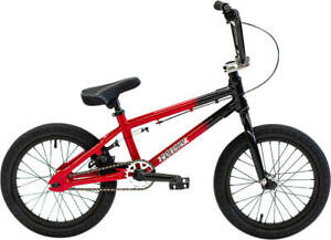 "COLONY Horizon 16 "" Gloss Black/Red Fade 2021 Freestyle BMX Bike"