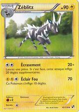 Zeblitz - N&B: Noir et Blanc - 42/114 - Carte Pokemon Française Neuve