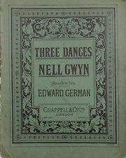 Three Dances – Nell Gwyn – Edward German – Pianoforte – piano music – pub.1900