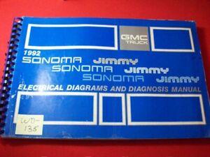 1992 GMC TRUCK - SONOMA & JIMMY MODELS - ELECTRICAL DIAGRAMS & DIAGNOSIS MANUAL