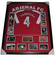 Cesc Fabregas Signed Arsenal Jersey Framed 100% GENUINE + COA