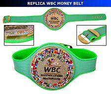 New WBC MONEY BELT MAYWEATHER MCGREGOR Fight Replica Belt with Extra Pearls