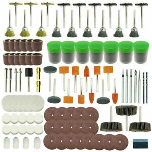 350Pcs Dremel Rotary Tool Accessories Kit Grinding Polishing Shank Craft Bits