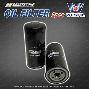 2 Wesfil Oil Filters for Ford F250 RM Turbo Diesel 6Cyl 6C MPFI SOHC 18V