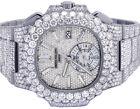 Neu Herren Patek Philippe Nautilus 5980/1a-019 Stahl VVS Diamant Uhr 35.75 CT