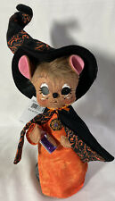 RARE Annalee Halloween Doll ~ 2017 ORANGE SWIRL WITCH MOUSE Witch Spell Dust 8""