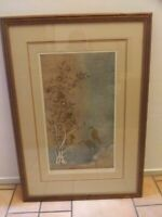 """WILLIAM BARNUM  Large signed Ed. Limited 56/250  Etching print """"BIRDS SONG""""."""