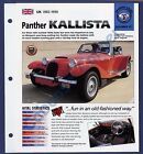 Panther Kallista Brochure Specs 1982-1990 Group 3, No 67