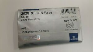 sealed,1440 swarovski hot-fix flatbacks,16ss transparent HF light siam #2028/58