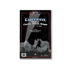 """1 Pack 25 BCW Current Comic Book Mylar Storage Bags Sleeves Flap 4 mil 7/8"""" flap"""