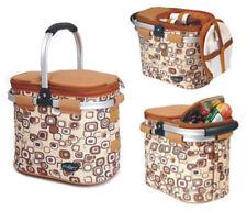 Picnic & Beyond Picnic Cooler Basket for 2 Pb9-1002-Brown 12 pcs