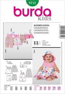 Burda Kids Schnittmuster - Kombi: Overall, Kleid, Hose, Jacke, Hut - Nr.9712