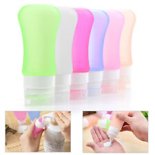 4PCS Portable Silicone Travel Bottle Set Leakproof Container Refillable 37ML USA