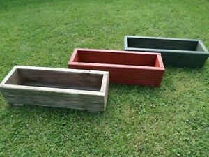 2 Hand Made Wooden Planters/Herb Boxes - 100% Reclaimed/Upcycled Decking Timber