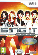DISNEY SING IT POP HITS for Nintendo Wii - with box & manual - PAL