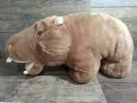 "Hippo Hippopotamus Lovers Stuffed Animal Toy Large Stuffed Animal 19"" Collectabl"