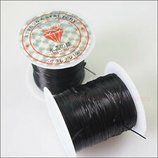 1Roll Elastic Stretch Beading Cords For Bracelets DIY White or Black