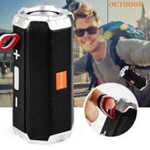 Bluetooth Speaker Portable Wireless Stereo Column Outdoor HIFI Bass Speakers...