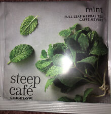 STEEP CAFE HERBAL MINT - 25Cnt - TRUE LOOSE LEAF IN A SACHET BAG