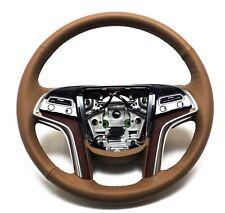 2015-2017 Cadillac Escalade Steering Wheel Choccachino Lather, Stitches 23360993