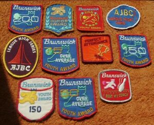 Vintage & New AJBC / Brunswick CLOTH BOWLING PATCHES (Lot of 11)