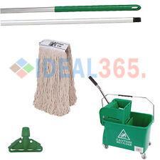 More details for kentucky mop bucket combo set - bucket, wringer, handle, & mop head (green)