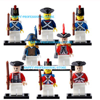 Collection 8 Pcs Minifigures Navy Imperial Rank And Soldiers Governor Lego MOC