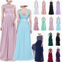Sexy Women's Bridesmaid Dress Long Chiffon Evening Formal Prom Gowns Maxi Dress