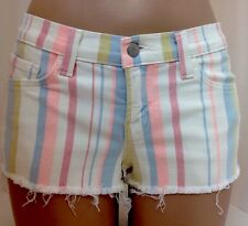Jbrand Shorts Multi Stripe Denim Size 24