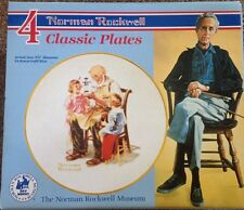 Vintage Norman Rockwell Plate Set of 4 Museum Collection 1985