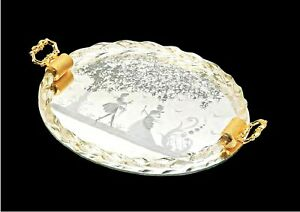 Tray Mirror Oval Glass Of Murano Classic Handmade IN Italy
