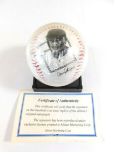 Jackie Robinson Replica Signed Baseball with Photo on Ball w/ COA