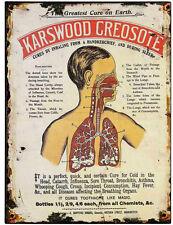 Karswood Créosote Boîte En Métal Plaque Murale Panneau 40x30 cm Victorien