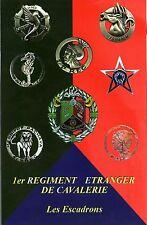 Militaria - CP - Insignes des escadrons du 1er Régiment étranger de Cavalerie