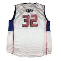 Detroit Shock Swin Cash Autographed Jersey WNBA Basketball by Reebok Sz XL