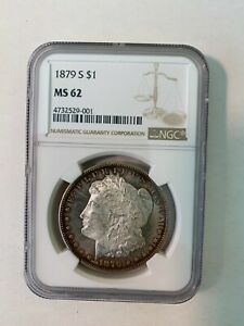 1879-S NGC MS-62 Morgan Silver Dollar Cameo Proof-like Obverse