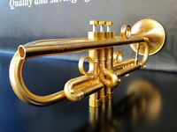 JP by Taylor Satin Gold Custom Bb Trumpet- Professional
