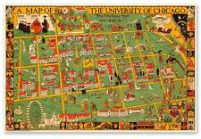 "University of Chicago Campus Map circa 1932 - 24"" x 36"" Art Print Poster USA"