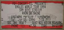 6-18-94 Eagles *Vintage Rare* Concert Ticket Stub Sam Boyd Stadium Las Vegas Nv