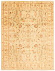 """Vintage Hand-knotted Carpet 9'0"""" x 11'10"""" Traditional Light Green Wool Area Rug"""