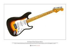 Eric Clapton's Stratocaster 'Brownie' Limited Edition Fine Art Print A3 size