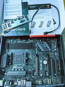 MSI B350 PC MATE AM4 AMD ATX DDR4 Mainboard(Motherboard)