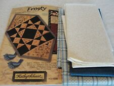 TABLE MAT Block of the Month Embroidery Quilt Kits From Kathy Schmitz 13x24""