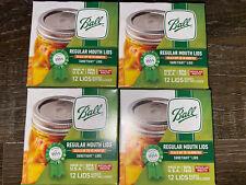 Ball ~ Canning Lids Fits Regular Mouth Size Jars Metal BPA Free ~ 48-Pack