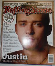 Rolling Stone Magazine Justin Timberlake & Johnny Depp 2003 Yearbook 031015R2