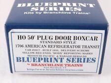 Branchline 1706 HO 50' Plug Boxcar Kit American Refrigerator Transit MODX #2017